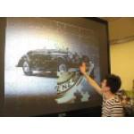 Интерактивная стена обратной зеркальной проекции