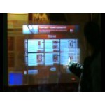 Интерактивная прозрачная голографическая витрина для МТС