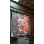 36 кв.м. проекции разрешением 3000х3000 пкс яркостью  24 000 ансилм Парк Победы проект Карты