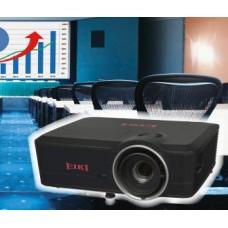 Проектор EIKI EK-601W1DLP, яркость 5500 ANSI lm, разрешение 1280х800, контрастность 7200:1, ZOOM 1.8:1,  1xHDBaseT, 2х HDMI, DisplayPort, 3D Sync, 12В триггер, вес 6.2 кг