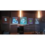 Оригинальный экран прямой проекции в кальяной Вертиго в Москва Сити