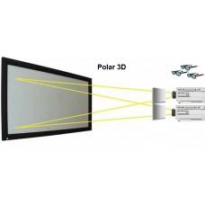3D поляризационная проекционная поверхность для проекторов Tener 3D 2,4 Серебрянный