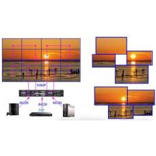 MultyWall W-405 Многофункциональный 4К контроллер видеостены, 2HDMI+1DVI-I+1DP (input), 4HDMI (output), HDMI