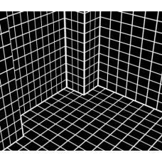 ProGrid black - черная голографическая сетка для освещенных помещений с темным интерьером