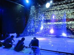 Голографическая 3D инсталляция на концертах, выставках и рекламных стендах в Москве и МО.