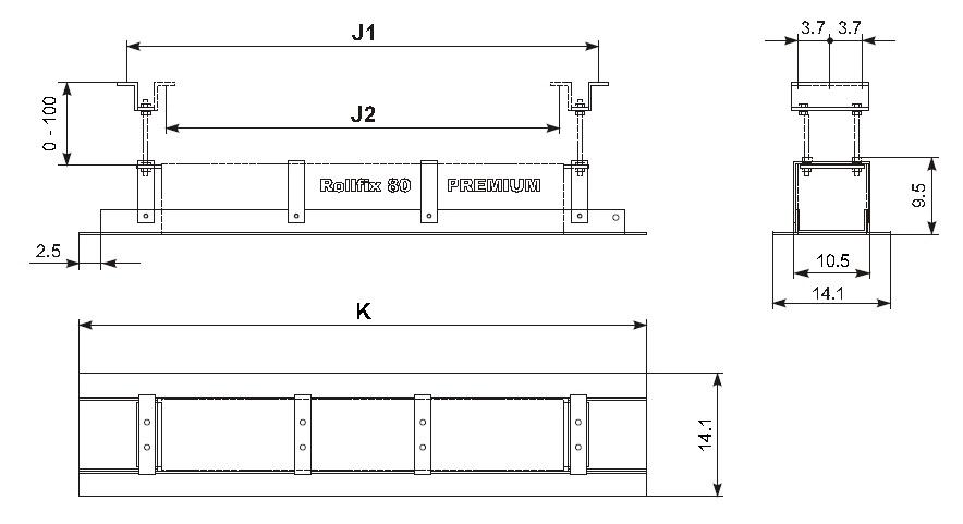 MW Монтажная рама для экранов Rollfix